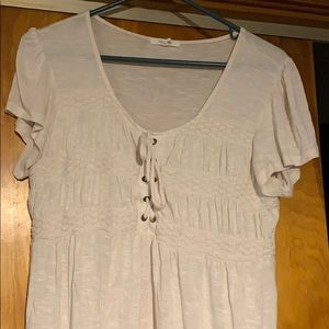 Maurice's white flowie blouse